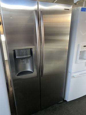 $599 Samsung stainless steel side-by-side refrigerator with ice and water dispenser includes delivery in the San Fernando Valley a warranty and insta for Sale in Los Angeles, CA