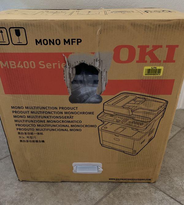 OKI LED Wireless Multifunction Monochrome Printer MB472w
