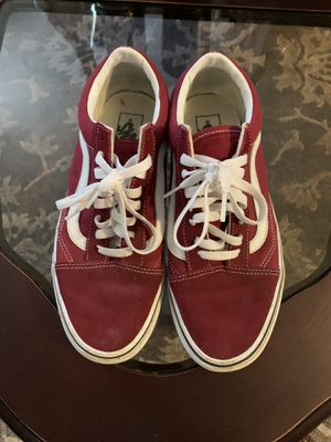 Maroon old school vans (MENS/9 W/10.5) for Sale in San Jose, CA