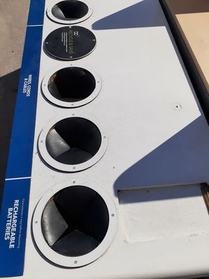 Recycle bin with wheels for Sale in Laredo, TX