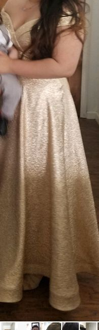 L Gold off the shoulder dress for Sale in CA, US