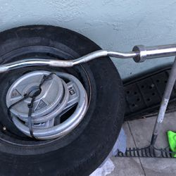 Weights And Curling Bar for Sale in Dixon,  CA