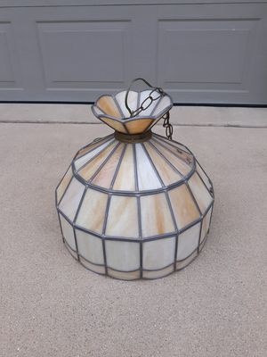 Stained Glass Leaded Hanging Light for Sale in Washington, IL
