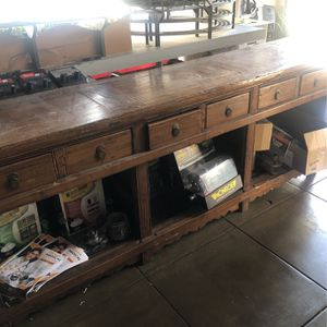 8 Feet 7inches Length Antique Wood Very Heavy 6 Drawers for Sale in West Covina, CA