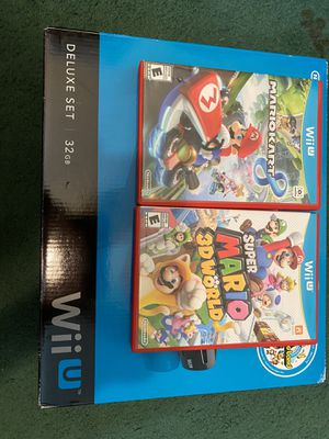 Brand new Nintendo WII U with Games for Sale in San Bernardino, CA