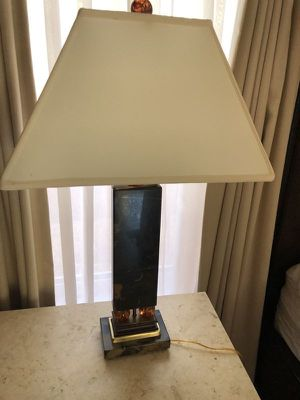 2 Beautiful Stone Lamps for Sale in Fort Lauderdale, FL