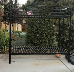 Bunk bed with futon on bottom bunk for Sale in Visalia, CA