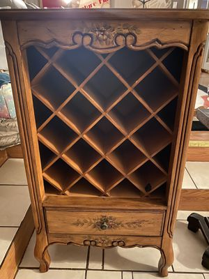 Wine holder with lower drawer for Sale in West Hartford, CT