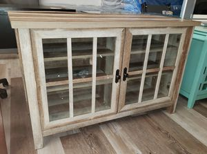 NEW Weathered Finish Oxford Media TV Stand for Sale in Burlington, NJ