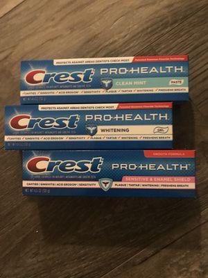 Crest pro health toothpaste 4.6 oz $1.50 each for Sale in San Bernardino, CA