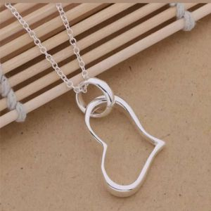"""925 Sterling silver Charm fashion pretty Heart woman Necklace 18"""" in long Necklace Approx chain Thickness 1mm - SLV for Sale in Queens, NY"""