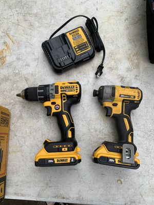 DEWALT 20-Volt MAX XR Lithium-Ion Cordless Brushless Drill/Impact Combo Kit (2-Tool) with (2) Batter for Sale in Houston, TX
