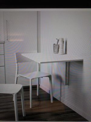 Ikea Norberg drop leaf table white for Sale in Poway, CA