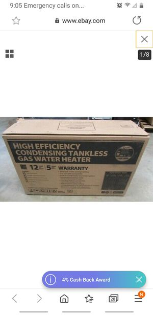RUUD tankless water heater 199,000 BTU for Sale in Tacoma, WA