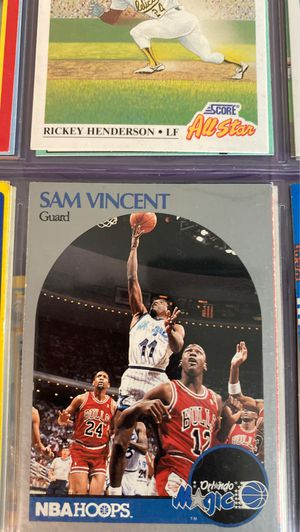 Variety of 1991 baseball and football cards + Sam Vincent error card with Michael Jordan for Sale in Bonney Lake, WA