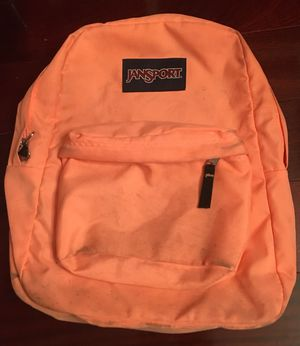 Jansport Peach Bookbag / Backpack with Zippered Storage Area for Sale in Ellenwood, GA