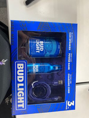 Bud light Bluetooth speaker, power bank, and charging cord for Sale in Livonia, MI