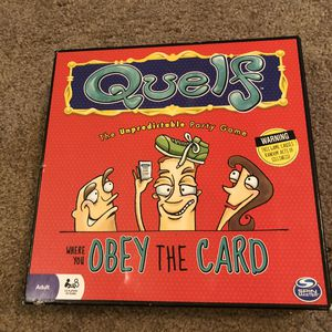 Quelf Unpredictable Party Game Adult Board Game Obey The Card Spin Master for Sale in Austin, TX