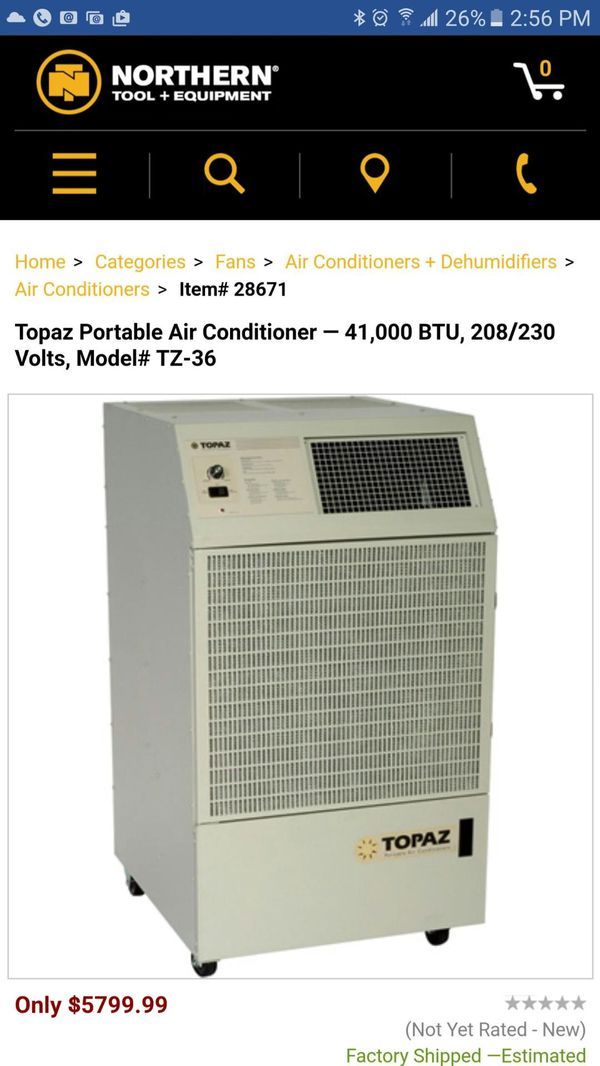 Portable Air Conditioner 41 000 Btu For Sale In
