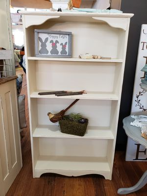 Shabby chic antique white solid wood bookcase for Sale in Monroe, GA