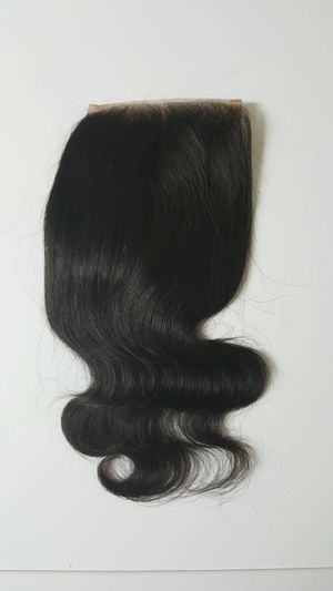 8 Brazilian human hair bodywave lace closure middle part for Sale in Lanham, MD