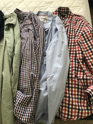 Men's Clothing- shirts, sweaters, hoodie, jacket, pants size Large for Sale in Mountain View, CA