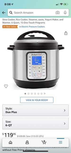 Instant Pot Duo Plus 9 in 1 electric pressure cooker new in box for Sale in Norwalk, CA