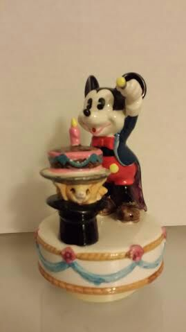 Schmid Disney Mickey Mouse Magician Revolving Music Box Birthday Cake for Sale in Austin, TX