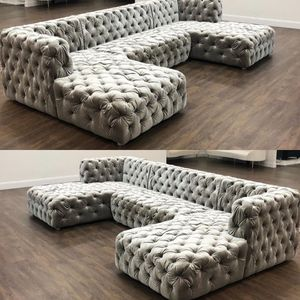 New modern tufted sectional sofa available in other colors for Sale in Miami, FL