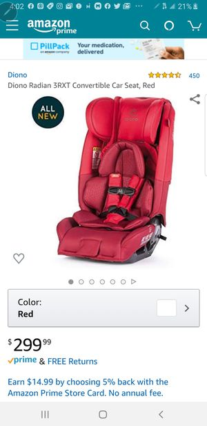 New diono radian 3 rxt all-in-one convertible car seat red for Sale in Pumpkin Center, CA