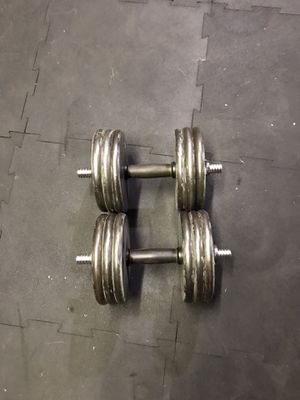 Dumbbell set 120lb total for Sale in Stockton, CA