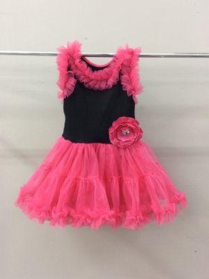 Black & fuchsia little girl dress size M for Sale in Houston, TX