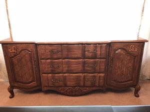 Antique Wood French Provincial Buffet Server for Sale in Matawan, NJ