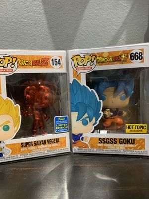 Dragon ball Z Vegeta Limited Edition and Goku Exclusive for Sale in San Antonio, TX
