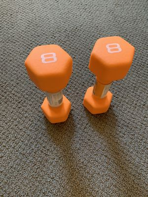 8 POUND DUMBBELLS SET - 16 LB TOTAL WEIGHT - NEW for Sale in Oak Park, IL