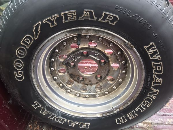 Goodyear wrangler tires with ford wheels