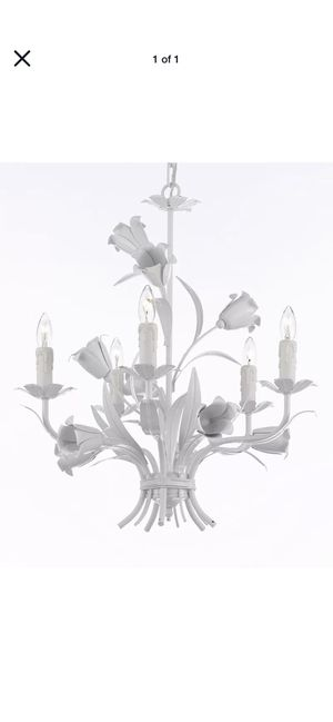 White Iron Chandelier for Sale in Cherry Hill, NJ
