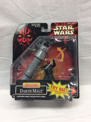 Star Wars Deluxe Darth Maul action figure for Sale in Berlin, CT