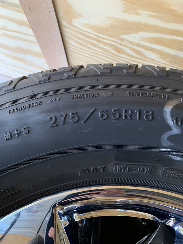 2019 Ford F-150 tires and rims.