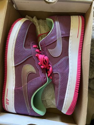 Pink/purple Air Force 1 size 12 for Sale in Renton, WA