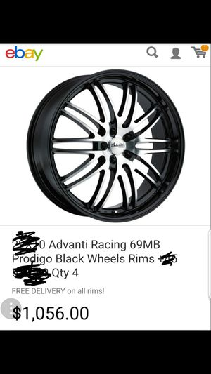 22INCH ADVANTI RIMS WITH LIKE NEW TIRES size 22x8.5. Lugs5-114 for Sale in Odenton, MD