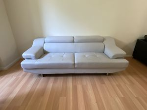 White leather couch for Sale in Dearborn, MI