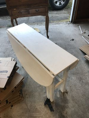 White table with drop leaves for Sale in Ruston, WA