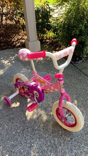 Girls Minnie Mouse Bike with training wheels for Sale in Auburn, WA