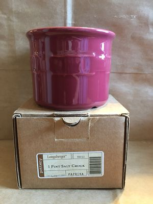 Longaberger paprika crock w/box and product card for Sale in Washington, DC