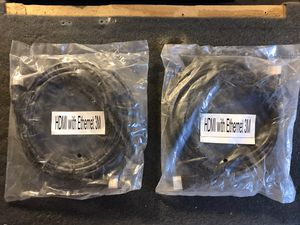 HDMI cable Only as Pictured price for 1 each (3M) brand new in plastic for tv game system or audio for Sale in Sacramento, CA