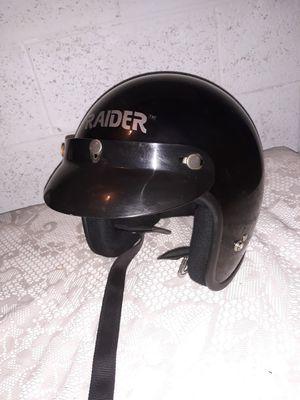 Half Helmet black with grit conditio size L for Sale in Glendale, AZ