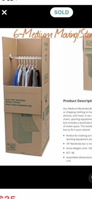 6 Wardrobe Boxes for Sale in Arlington, VA