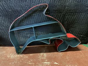 Miami Dolphins Metal Shelf - Wall Hanging - Teal & Red/Orange - Some Wear for Sale in Lauderdale Lakes, FL