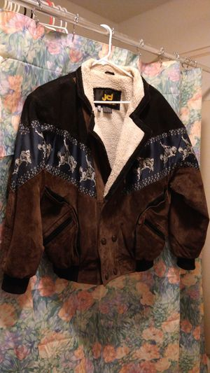 JD leather jacket rodeo style size medium good condition for Sale in Lock Haven, PA